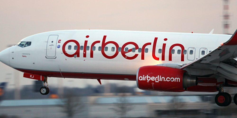 Foto de un avion de Air Berlins en el que puedes volar con tu perro cuando quieras