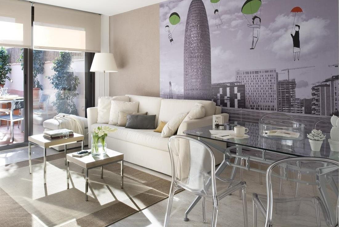Foto del interior de un apartamento de diseño que admite perros gratis en la ciudad de Barcelona