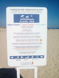 playa para perros en Gandía