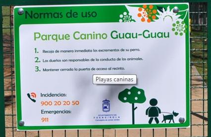 parque canino en Fuengirola