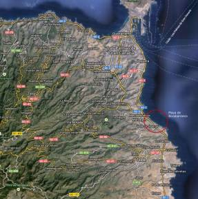 La Playa de Bocabarranco se encuentra en Valle de Jínamar, al sur de la ciudad de Las Palmas de Gran Canaria