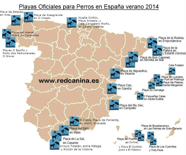 Playas Nudistas Cantabria Mapa.Playas Para Perros En Espana 2014