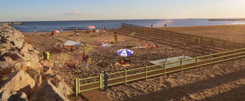 playa canina de Llevant en Barcelona