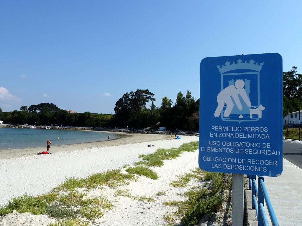Playa para perros en el Concello de Ares. Imagen: educandoagala.com