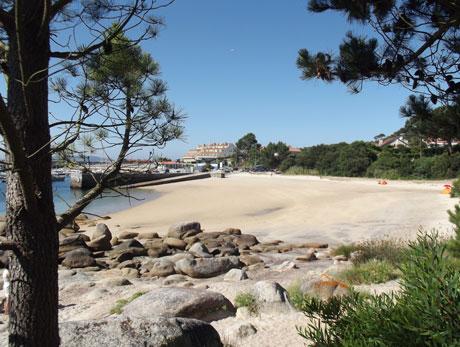 Playa para perros de O Espiño, en O Grove