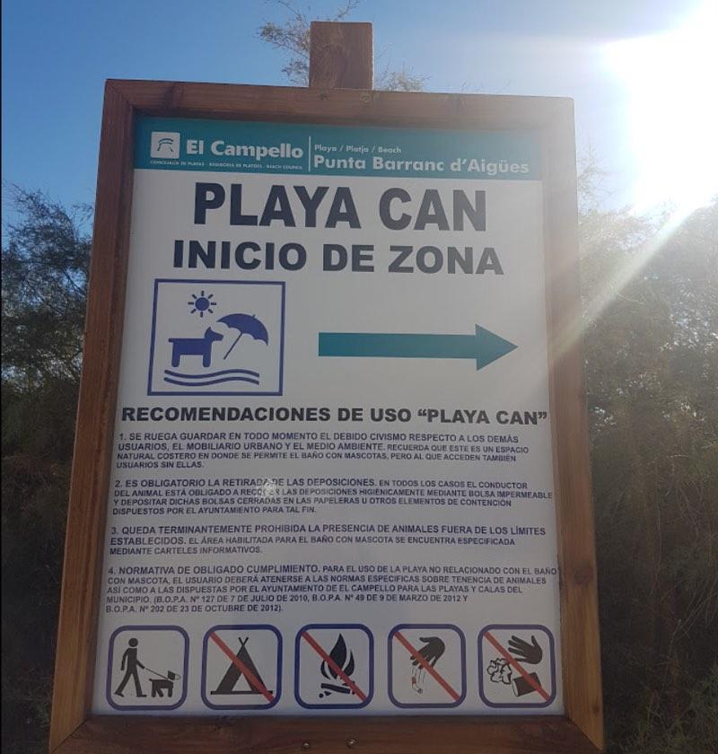 normas de la playa para perros de Campello