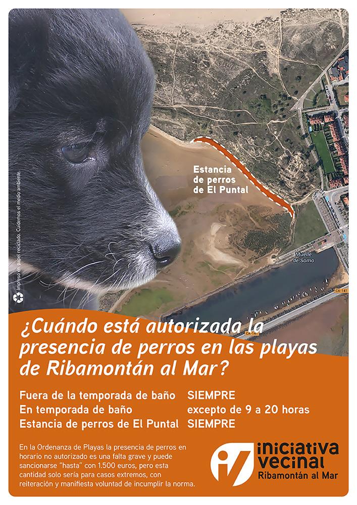 La zona destinada a los canes es la más cercana al Muelle de Somo.