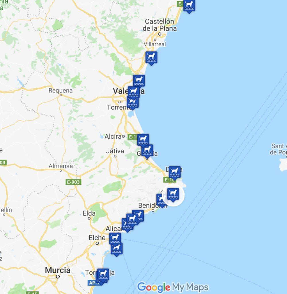 playas para perros en la comunidad valenciana