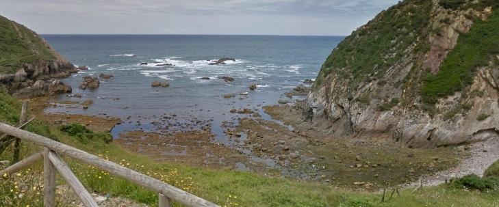 Cala Saliencia para perros en Asturias