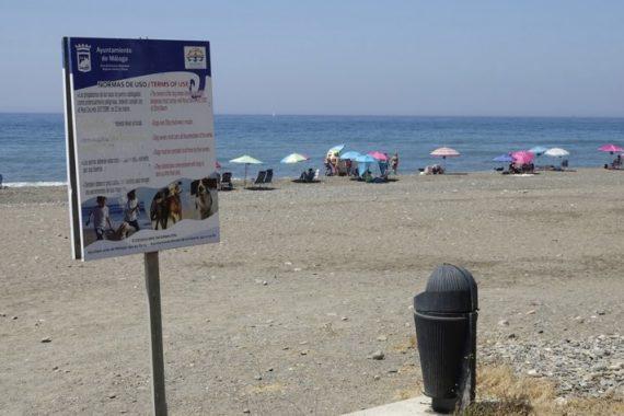 Playa para perros Arroyo Totalan en Málaga