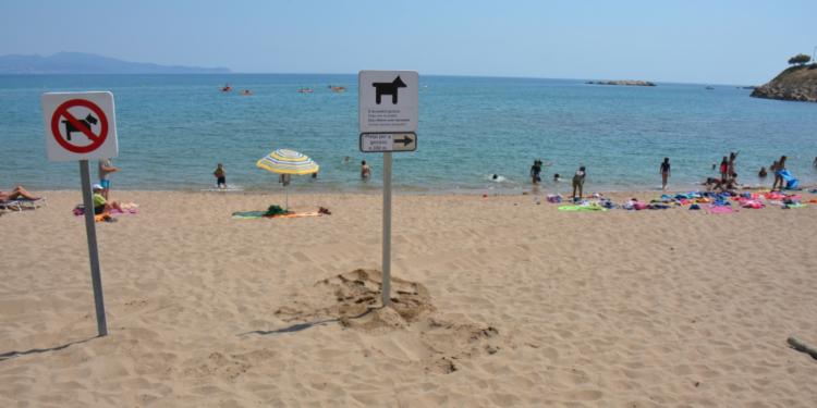 playas para perros en girona