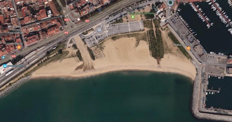 Playa para perros la Picordia en Arenys de Mar