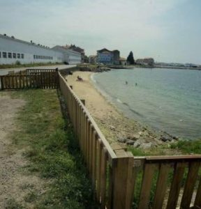 playa para perros de o castelete