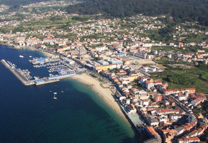 Foto aerea de Bueu en las Rias Baixas de Galicia