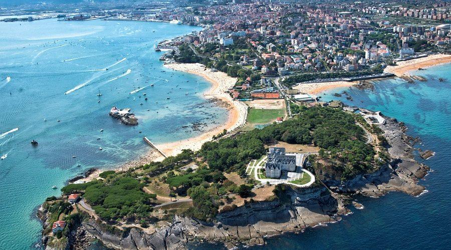 Vista de Santander, la costa y el mar