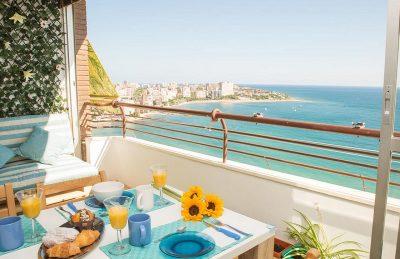 Foto de las vistas de el apartamento Marlicante donde puedes ir con tu perro gratis estas vacaciones
