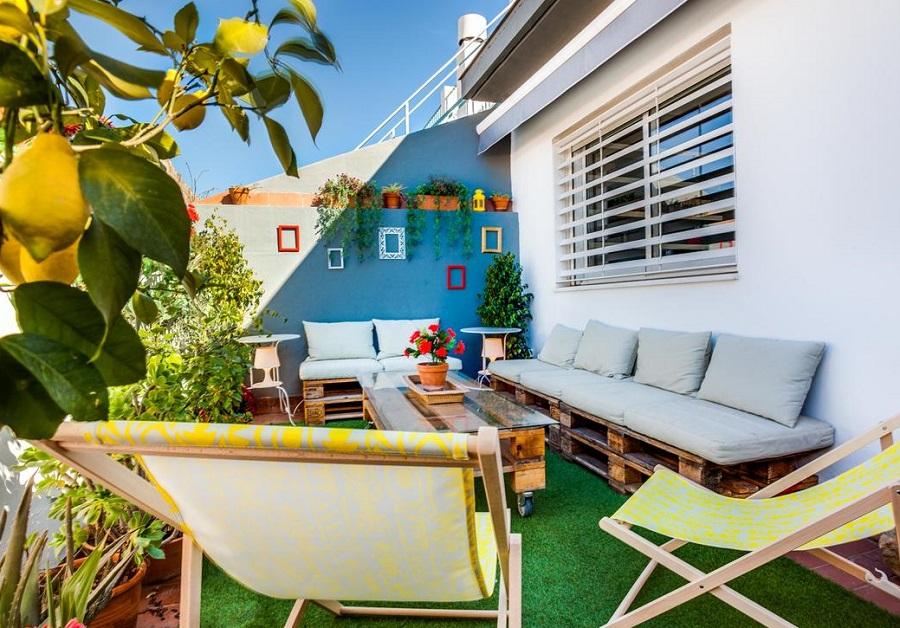 Foto de la estupenda terraza de un apartamento en Sevilla