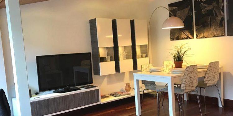 Foto de un apartamentos muy moderno y con suelo de parqué donde puedes alojar a tu perro GRATIS
