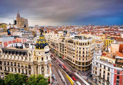 Foto de Madrid vista desde lo alto en una de sus zonas más transitadas