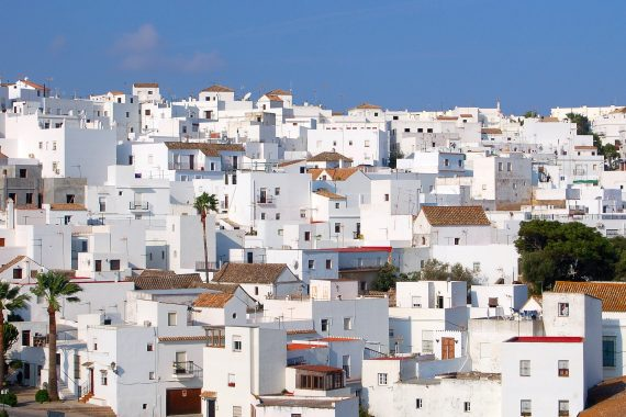 Foto de Vejer de la Frontera donde se ven las casa pintadas de color blanco