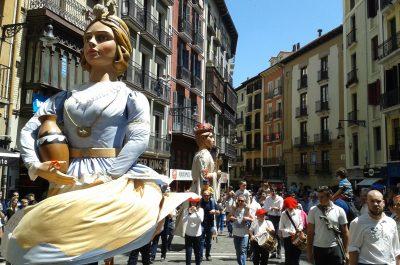 Foto el casco antiguo de Pamplona
