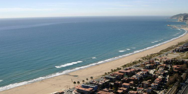 Foto de la Playa de Castelldefels vista desde el aire