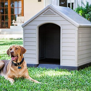 Casas de plástico para perros Keter de gran tamaño que mide 99 x 95 x 99 cm