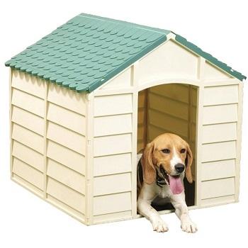 Vigor Blinky 10-701, casa de plástico de 71 x 71 x 68 cm perfecta para perros medianos y pequeños