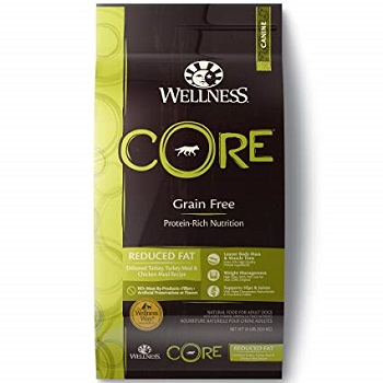 Wellness Core Reduced Fat Food es un pienso perfecto para controlar el sobrepeso de tu perro porque no contiene cereales
