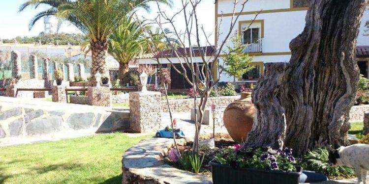 Foto del exterior de Villa Martin La Fabrica una casa rural con mucho encanto y con unos exteriores ideales para que disfrute tu perro