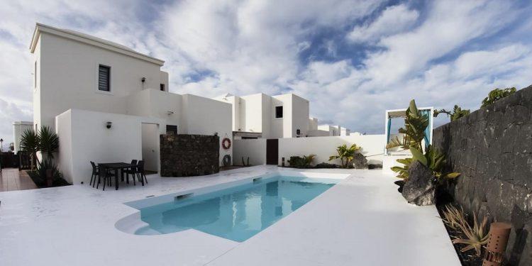 Villas que admiten mascotas en Playa Blanca en la Isla de Lanzarote en las Canarias